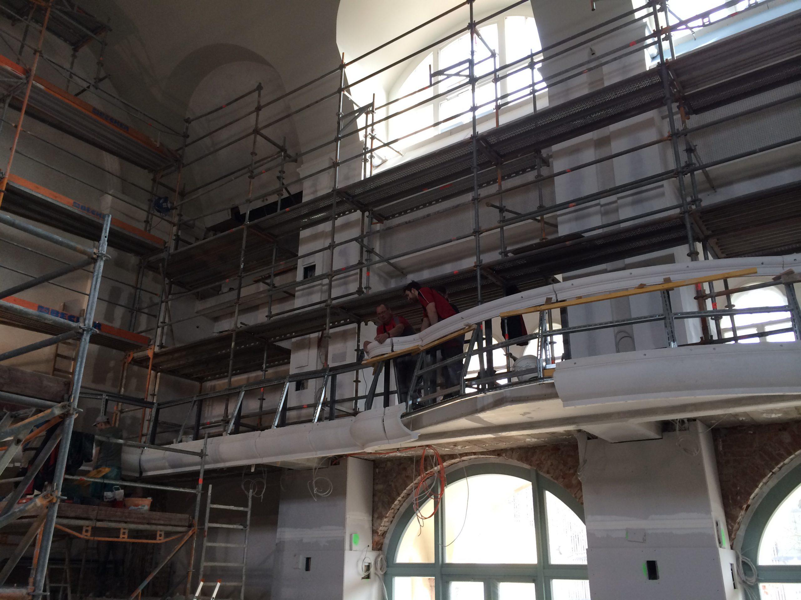 Großer Saal im Bau